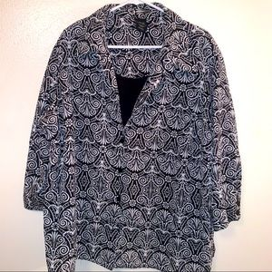 3/$25 George 4X 26/28 Faux Layer Look Blouse